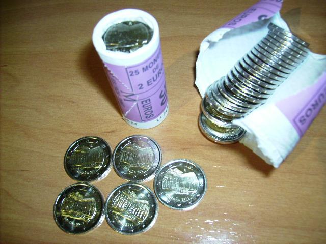 Espa a 2 euros alhambra de granada ya disponible for Sucursales banco santander barcelona